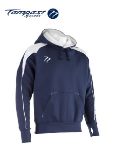 Tempest 'CK' Navy White Hooded Sweatshirt